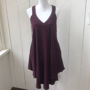 Tobi Maroon handkerchief dress